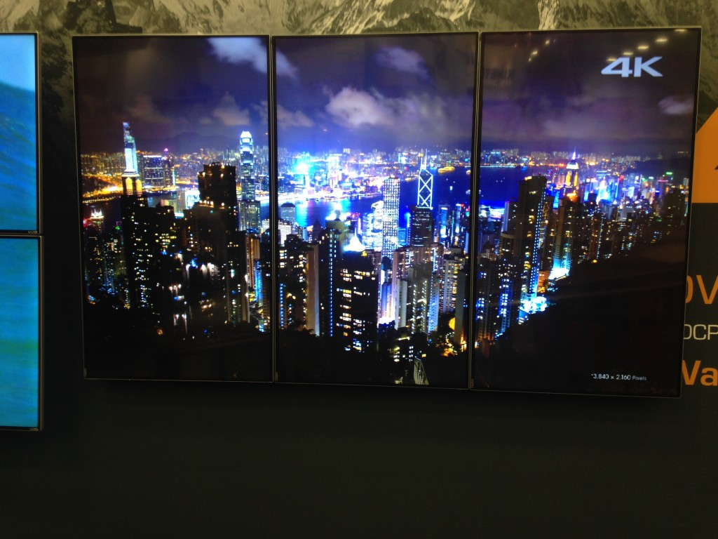 3G Ultra HD over IP can support 4K video walls in portrait mode, as shown here.